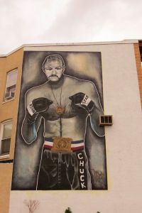 Mural of Chuck Wepner painted on Bayonne building. (Photo: Colin Warnock)